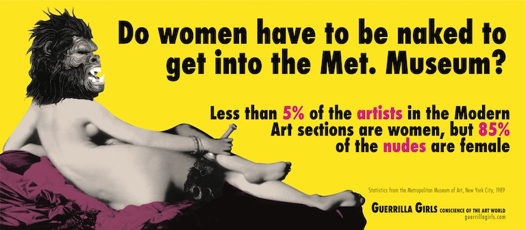 Guerrilla Girls exhibition at upcoming Art Safari event in Bucharest