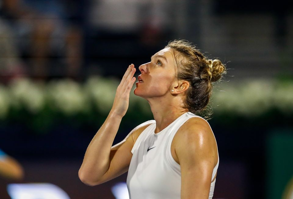 Romania's Simona Halep wins tennis tournament in Dubai for the third time