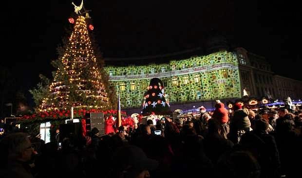 29 November 2014 - Romanian Capital Turns On Christmas Lights, Hosts Bucharest