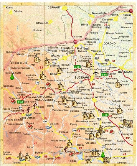 Harta Turistica Moldova Romania