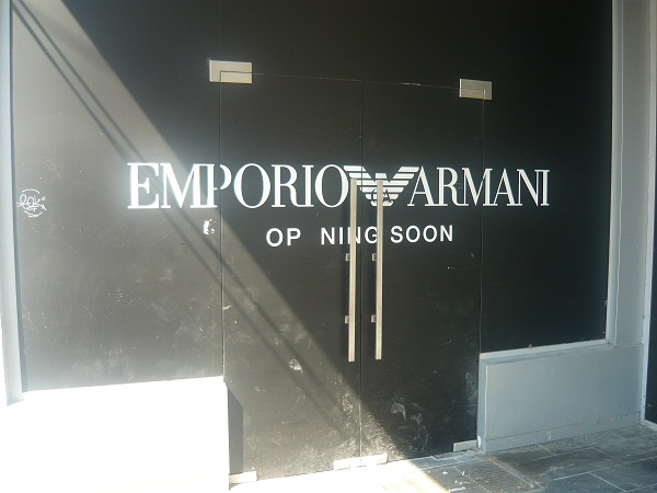Armani store expected this month on Calea