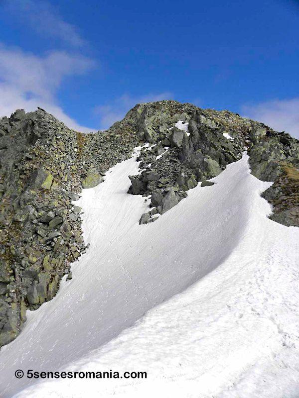 Snow ridge Retezat