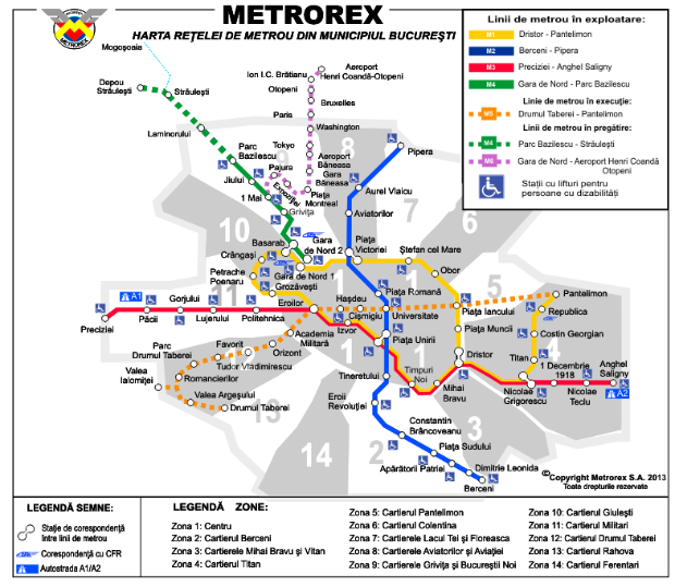 Subway Map Marketing.The Essentials To Get Around The Bucharest Metro System Romania