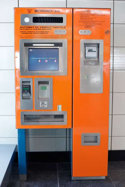 metro ticket vending machines