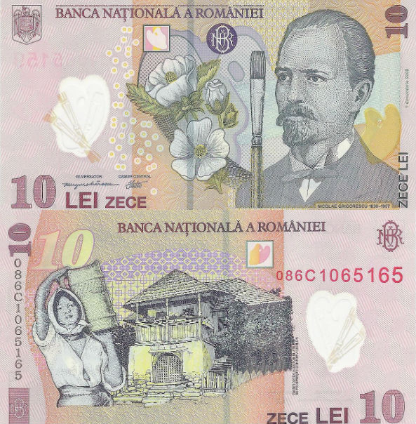 RON 10 bill