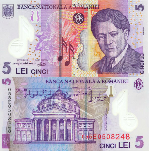 RON 5 banknote