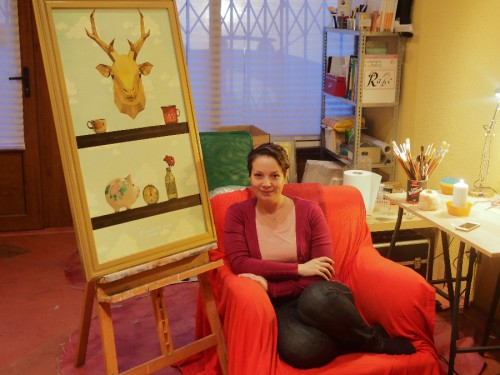 Smaranda in her workshop, January 2016