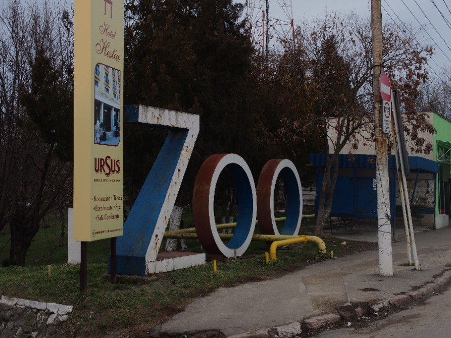 The entrance of the zoo in Calarasi