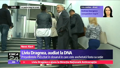 PSD President Liviu Dragnea waiting in line at the National Anticorruption Directorate - DNA headquarters in Romania