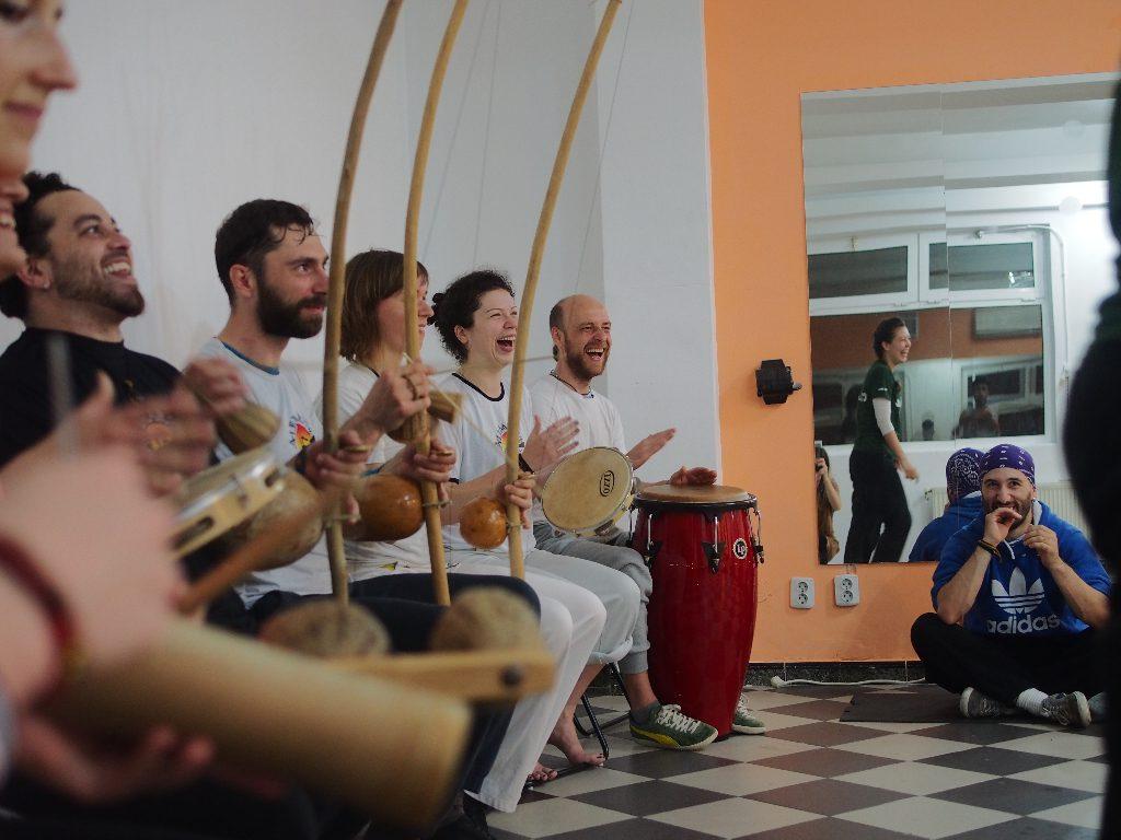 Minhoca's capoeira school in Bucharest
