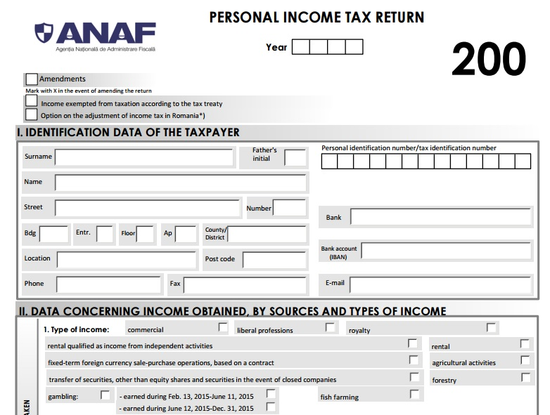 Romania's tax agency publishes first fiscal forms in English on ...