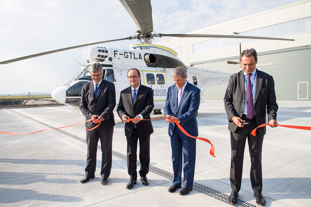 French President And Romanian PM Inaugurate Local Airbus