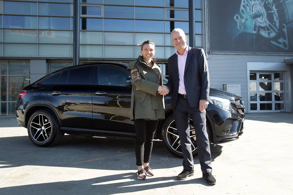 Tennis ace simona halep is the newest brand ambassador of for Mercedes benz brand ambassador